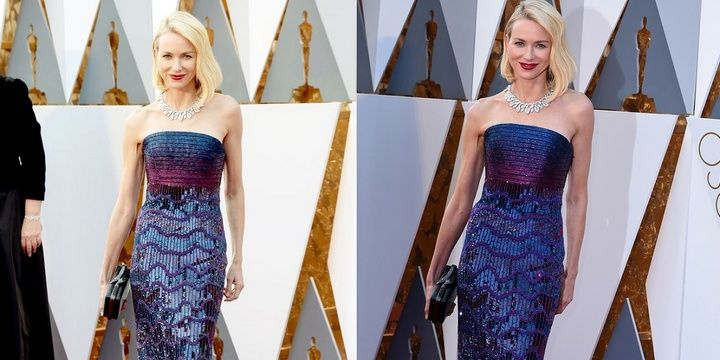 5 Bad and Good-Looking Celebrities Spotted at the 2016 Oscars Naomi Watts chose Armani Prive just in case she become a nominee
