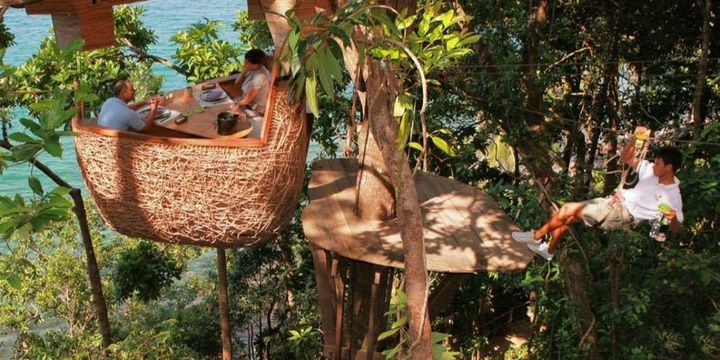 5 Most Uncommon Locations to Dine Out Soneva Kiri Treepod Dining Thailand