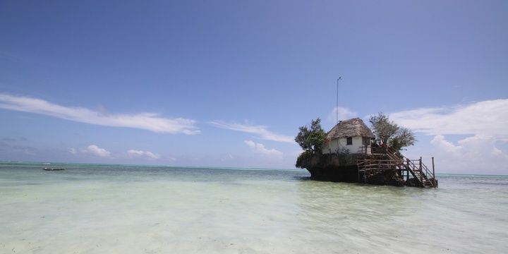 5 Most Uncommon Locations to Dine Out The Rock Restaurant Zanzibar