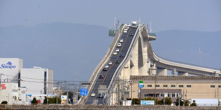 6 Most Breathtakingly Scary Bridges on the Planet Eshima Ohashi Bridge Matsue Japan